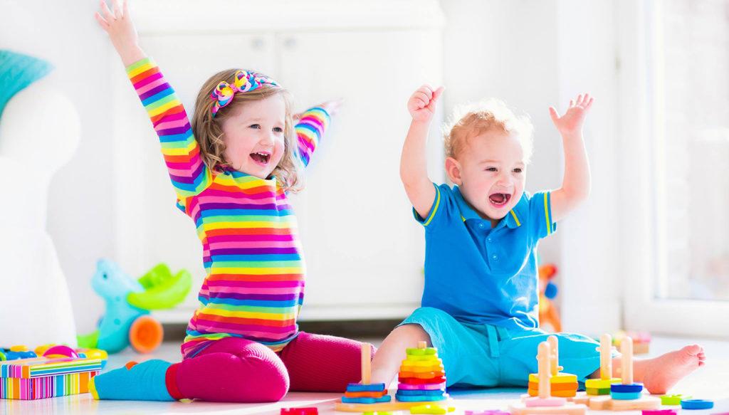 kids having fun indoors
